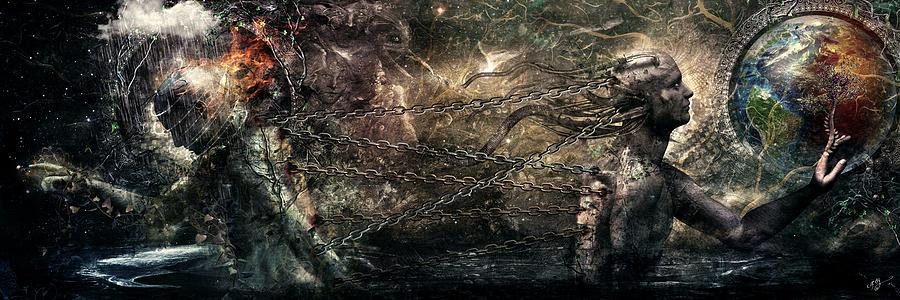 Cameron Gray Digital Art - Born Of Osiris Soul Sphere by Cameron Gray