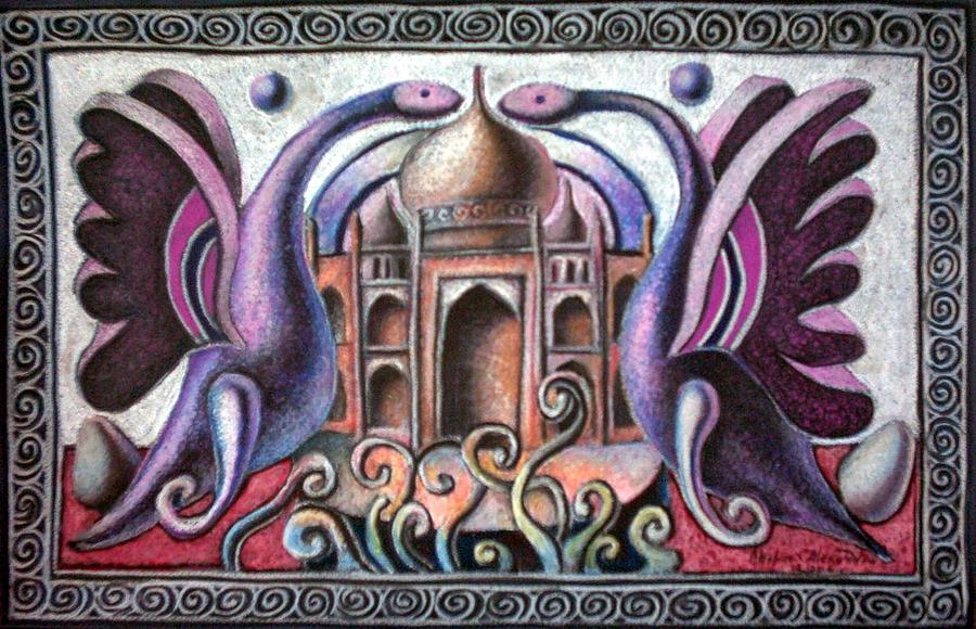 Born of Taj Mahal Painting by Chifan Catalin  Alexandru