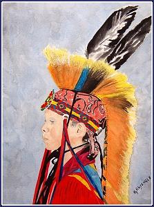 Born Proud Grass Dancer Painting by Michael Grayeagle