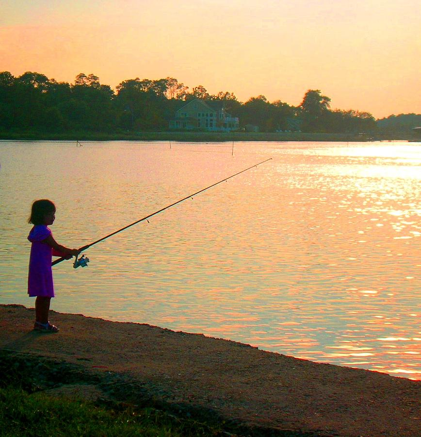 Fishing Photograph - Born To Fish by Caroline  Urbania Naeem