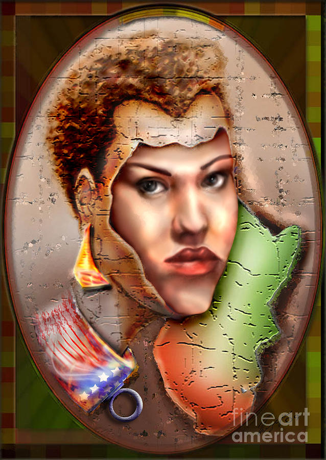 African American Woman Painting - Borne A Nation by Reggie Duffie