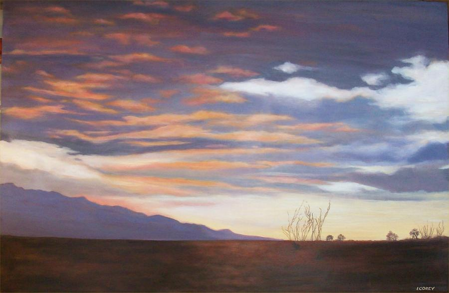 Landscape Painting - Borrego After the Storm by Irene Corey