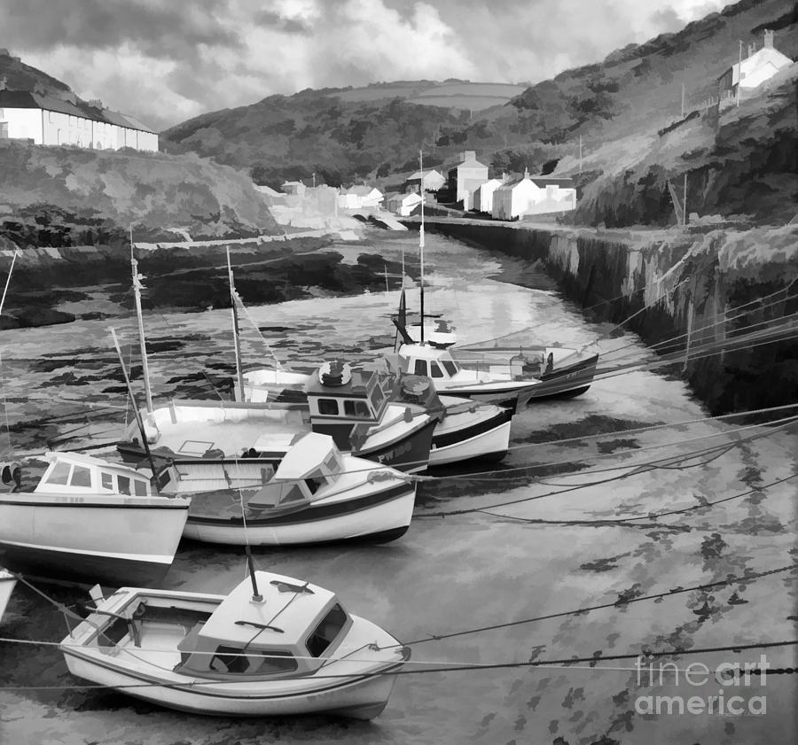 Boscastle Harbour in Monochrome by Gordon Wood