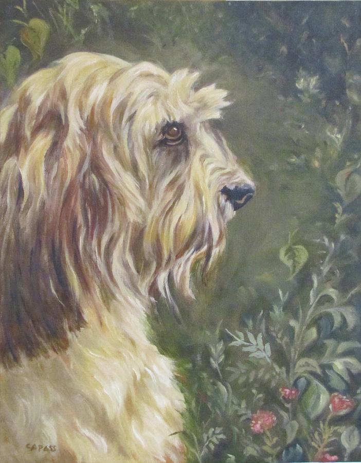 Companion Animals Painting - Bosleys Garden Portrait by Cheryl Pass