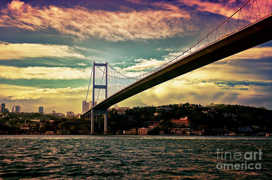 Marmara Photograph - Bosphorous Bridge by Nilay Tailor