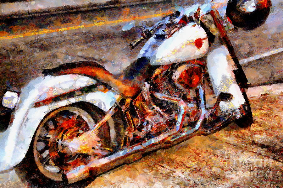 Transportation Photograph   Boss Hog . Harley Davidson . Painterly .  7d12757 By Wingsdomain Art Part 69