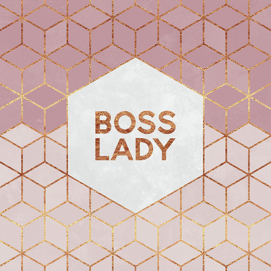 Graphic Digital Art - Boss Lady by Elisabeth Fredriksson