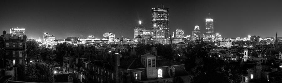 Black And White Photograph - Boston After Dark by Andrew Kubica