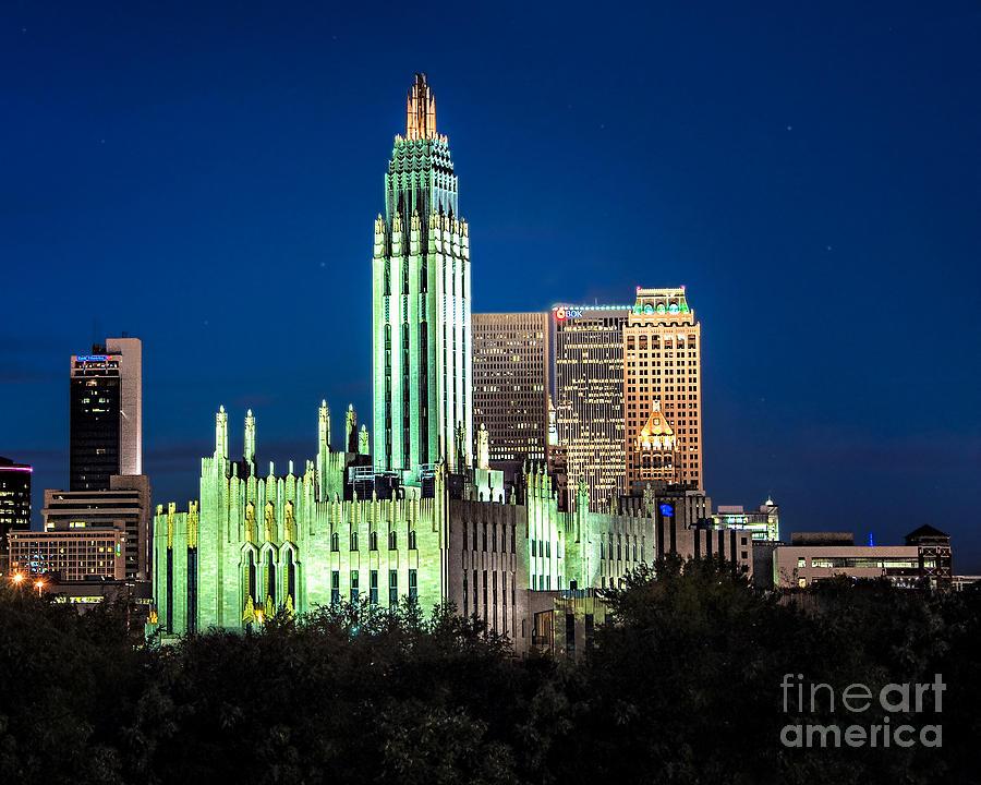 Tulsa Photograph - Boston Avenue Methodist Church At Twilight by Tamyra Ayles