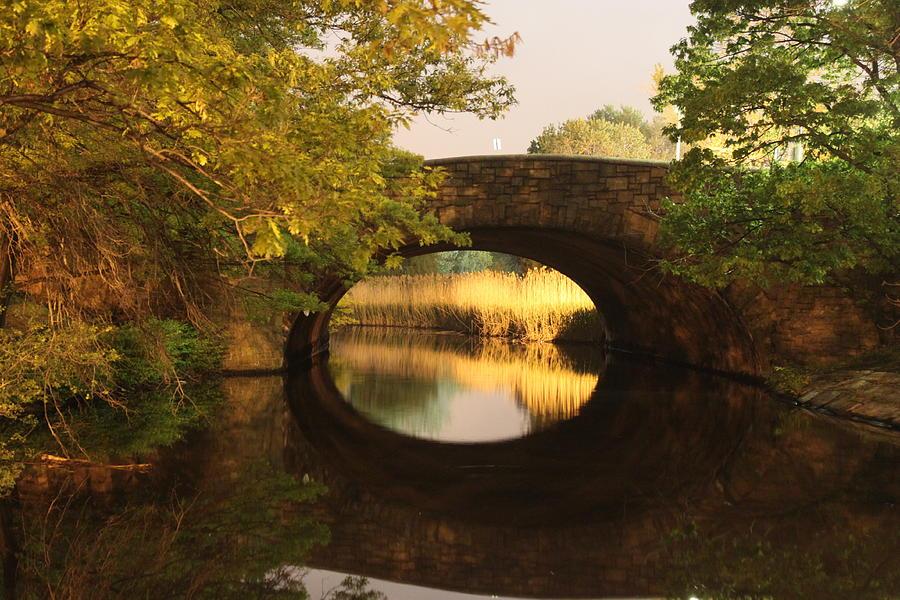 Boston Photograph - Boston Bridge Reflections by Lauri Novak