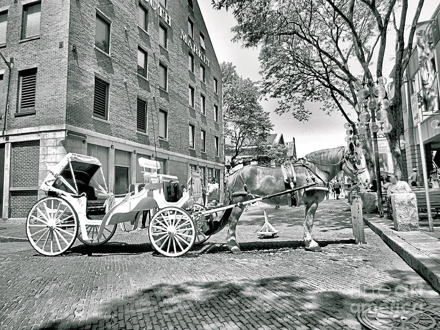 Faneuil Hall Photograph - Boston Buggy by Elizabeth Dow