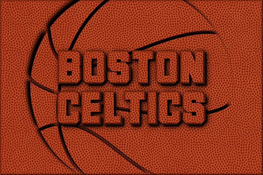 Celtics Photograph - Boston Celtics Leather Art by Joe Hamilton