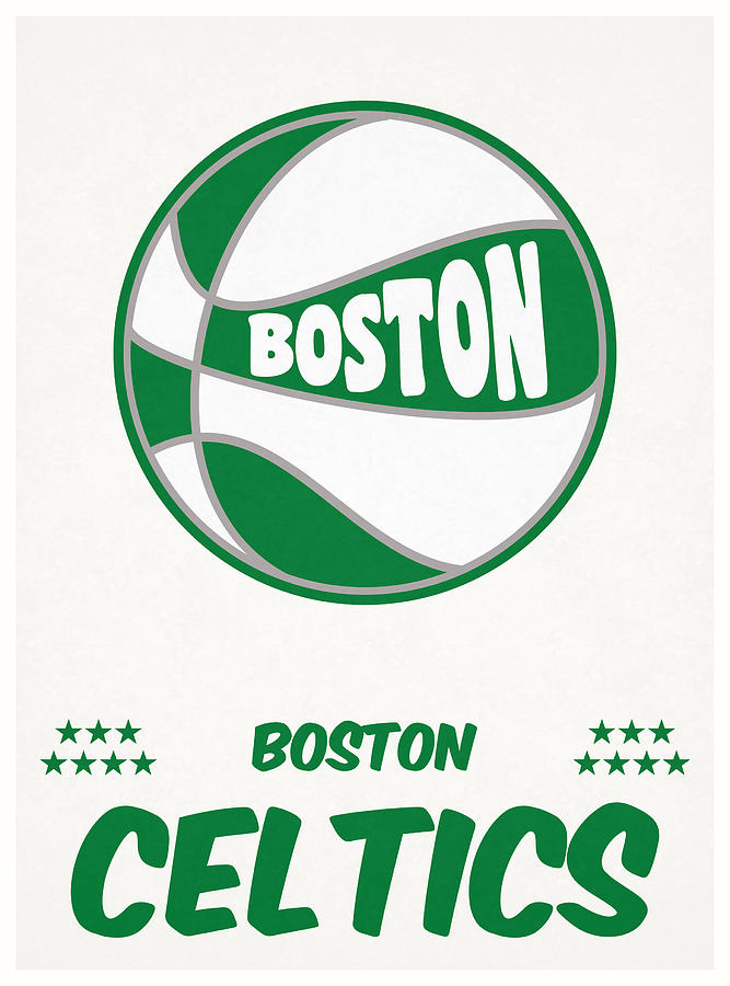 Celtics Mixed Media - Boston Celtics Vintage Basketball Art by Joe Hamilton
