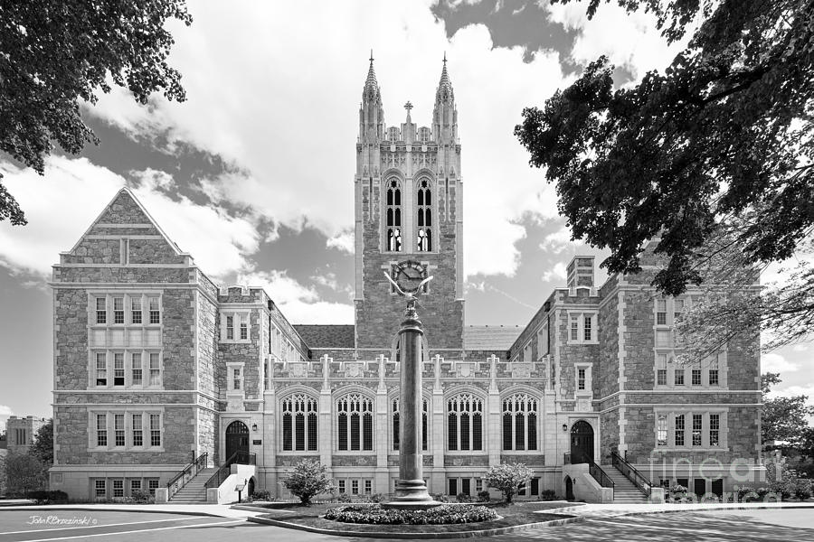 Gasson Hall Photograph - Boston College Gasson Hall by University Icons
