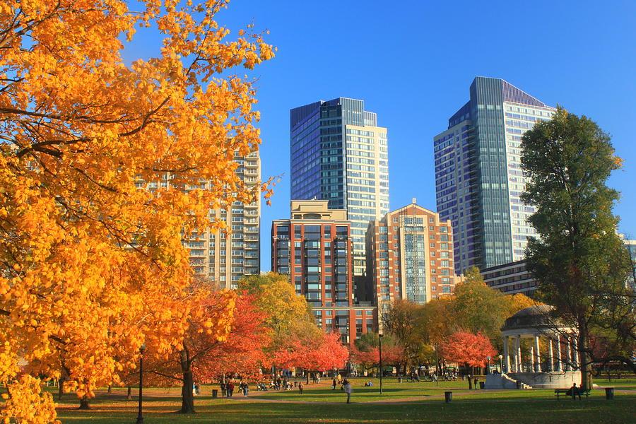 Boston Photograph - Boston Common In Autumn by John Burk