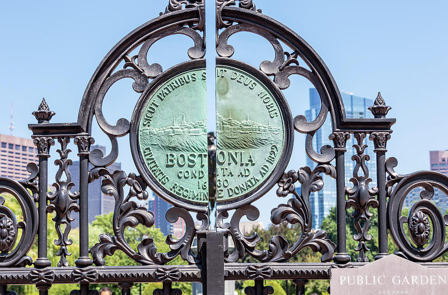 Boston Garden Gate Detail by Val Black Russian Tourchin