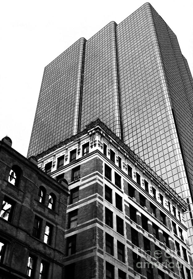 Skyscraper Photograph - Boston Generations by John Rizzuto