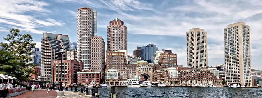 Boston Harbor Skyline by Suzanne Stout