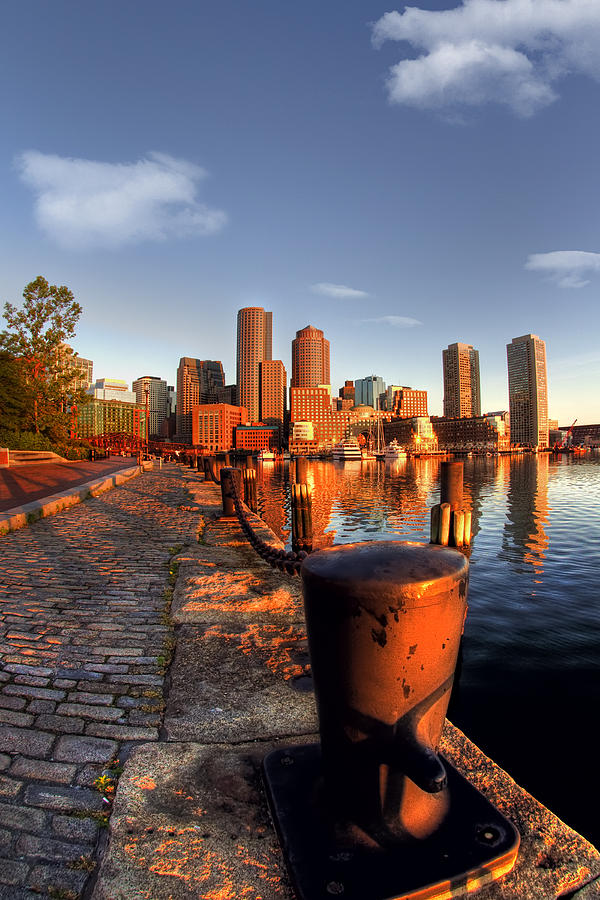 Boston Photograph - Boston Harborwalk Sunrise by Joann Vitali