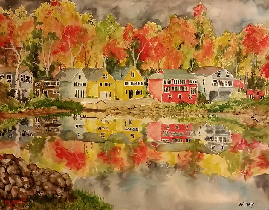Fall Painting - Boston In The Fall by Aaron Beaty