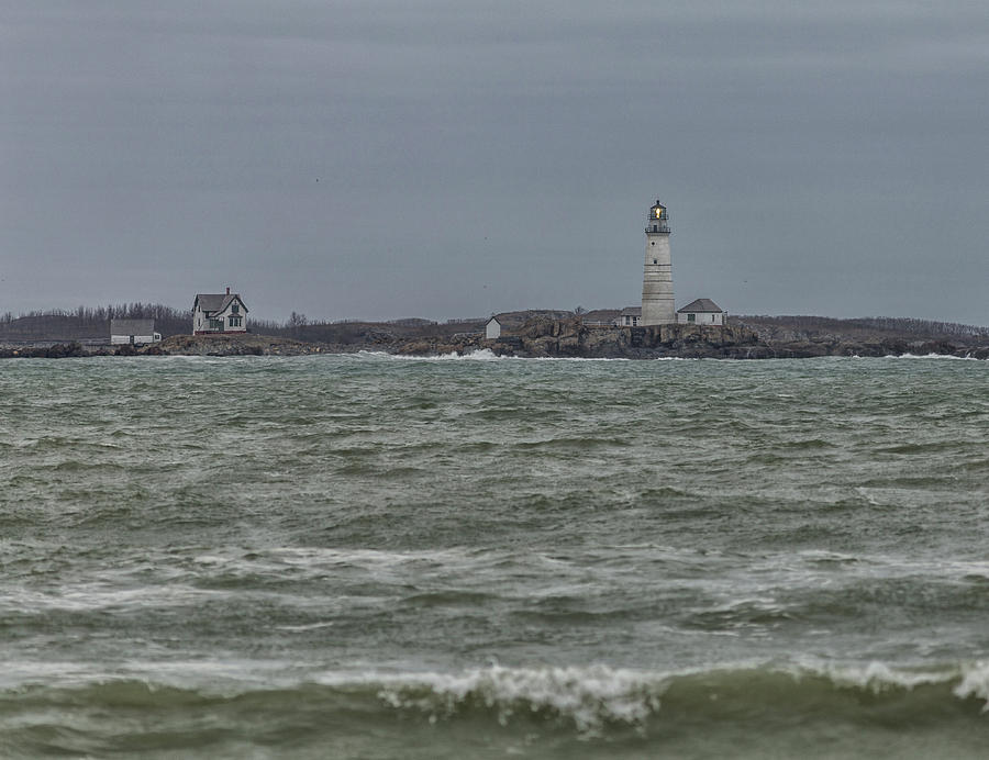 Boston Lighthouse Waves by Brian MacLean