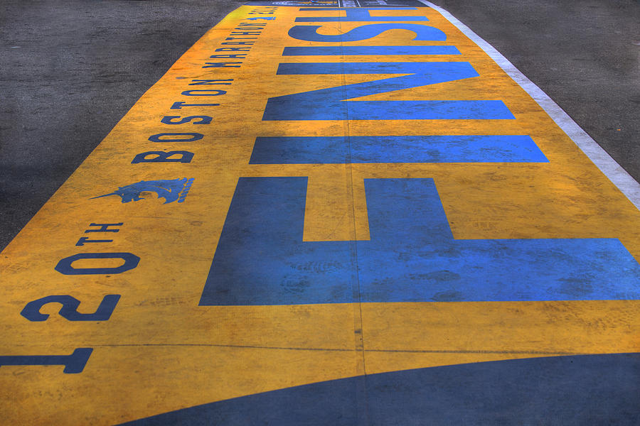 Boston Marathon Finish Line Photograph - Boston Marathon Finish Line by Joann Vitali