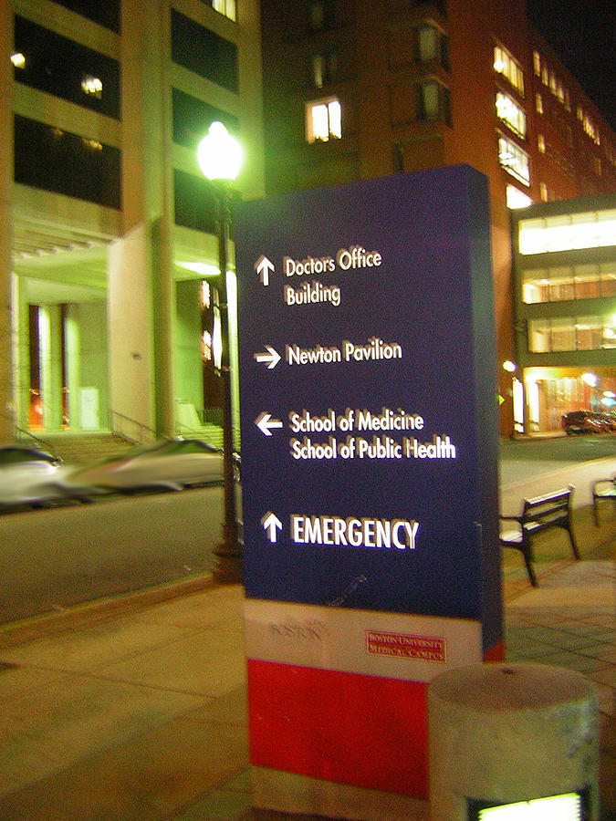 Boston Photograph - Boston Medical At Night by Heather Weikel