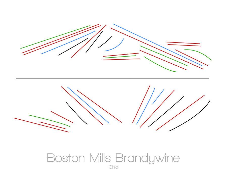 ski digital art boston mills brandywine ohio oh ski snowboard resort trial map by drew