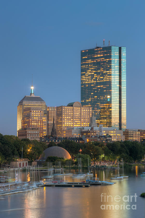 America Photograph - Boston Night Skyline Iv by Clarence Holmes