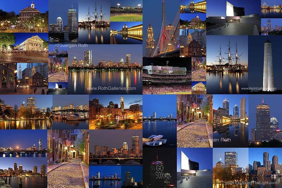 Boston Photograph - Boston Nights Of Light by Juergen Roth