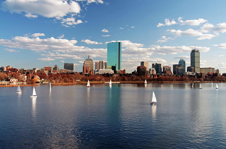 Boston On The Charles  Photograph by Wayne Marshall Chase