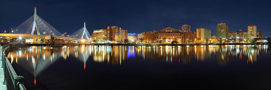 Boston Photograph - Boston Pano From Bridge To Bridge by Shane Psaltis