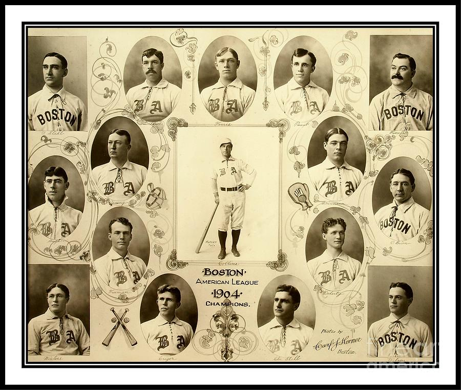 Baseball Photograph - Boston Red Sox a k a Boston Americans 1904 by Peter Ogden Gallery