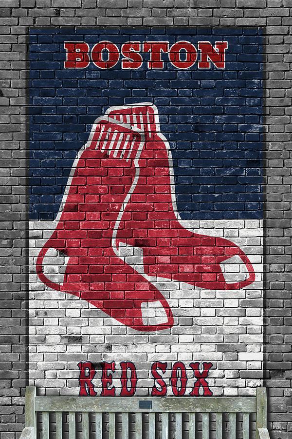 Boston Red Sox Brick Wall Painting by Joe Hamilton