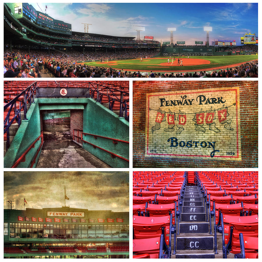 Red Sox Photograph - Boston Red Sox Collage - Fenway Park by Joann Vitali