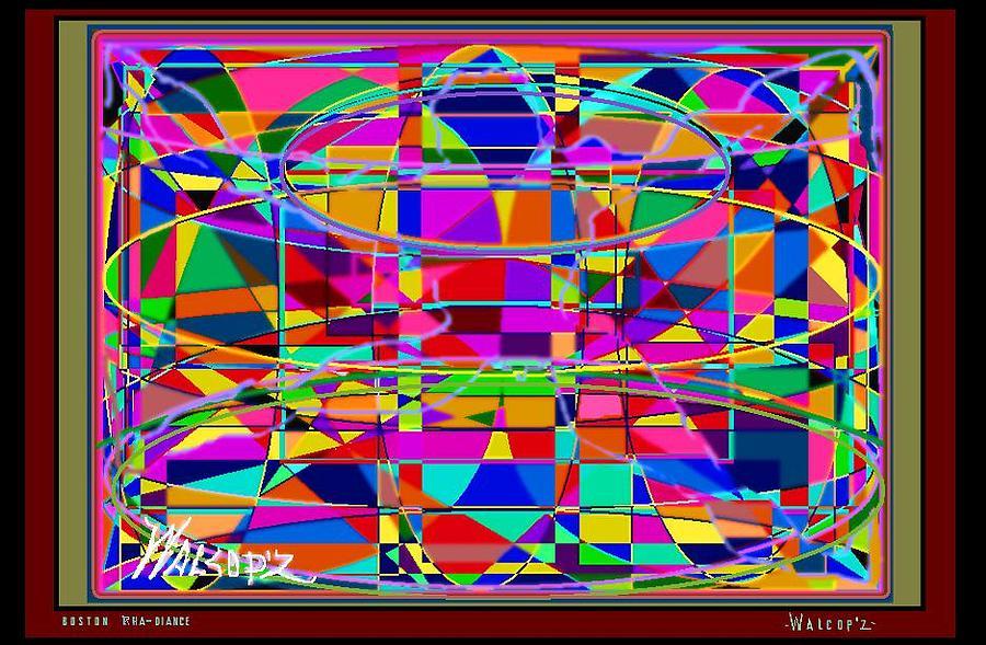 Boston  Rha-diance Digital Art by Walcopz Valencia