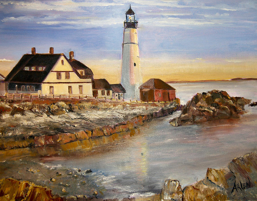 Boston rocky coast by Arlen Avernian - Thorensen