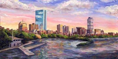 Boston Skyline - Back Bay Painting by Jeff Pittman