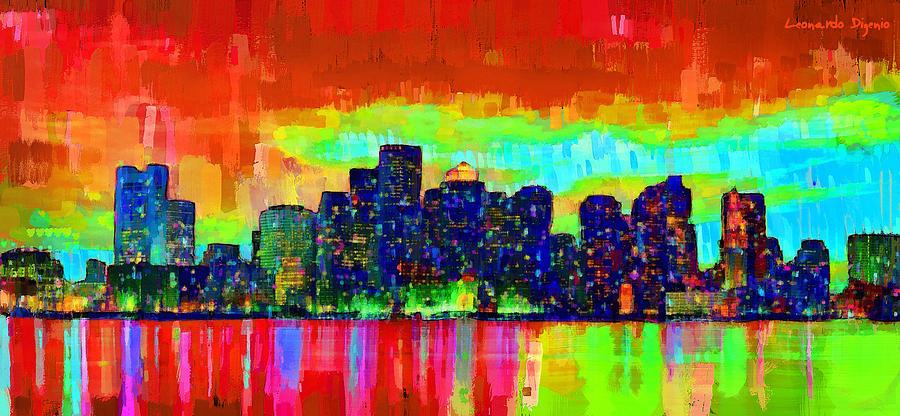 Boston Skyline 103 - Pa Painting