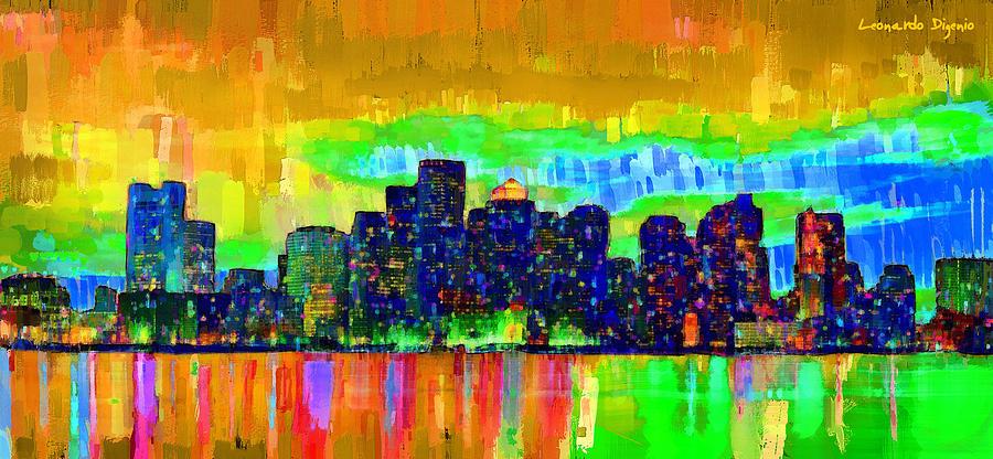 Boston Skyline 104 - Pa Painting