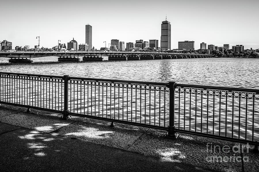America Photograph - Boston Skyline Harvard Bridge Back Bay Photo by Paul Velgos