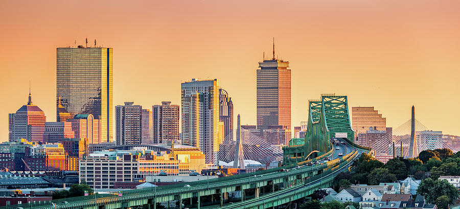 Boston skyline by Mihai Andritoiu