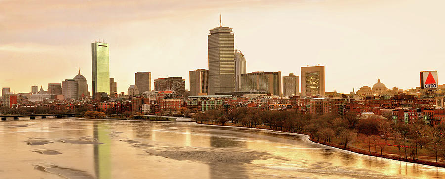 Boston Skyline on a December Morning by Mitchell R Grosky