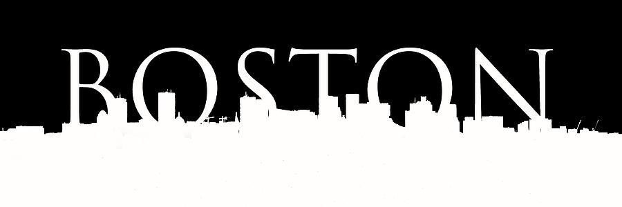 Boston Skyline Outline Logo 2 Photograph By Joann Vitali