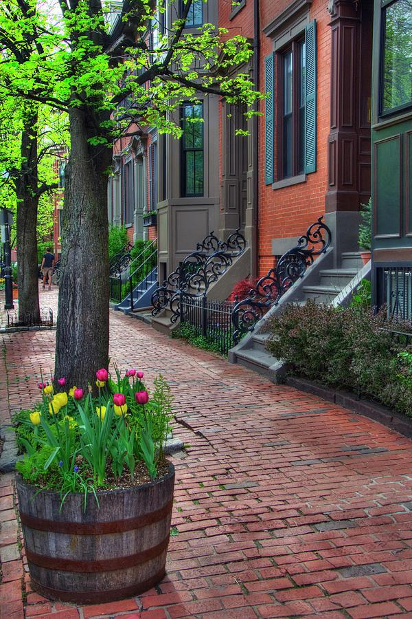 Boston Photograph - Boston South End Row Houses by Joann Vitali