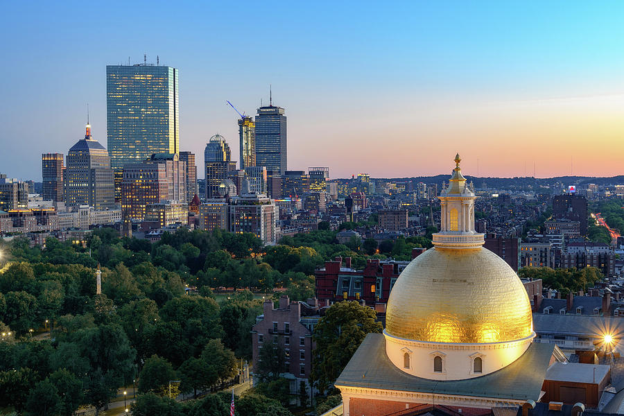 Boston State House by Michael Hubley