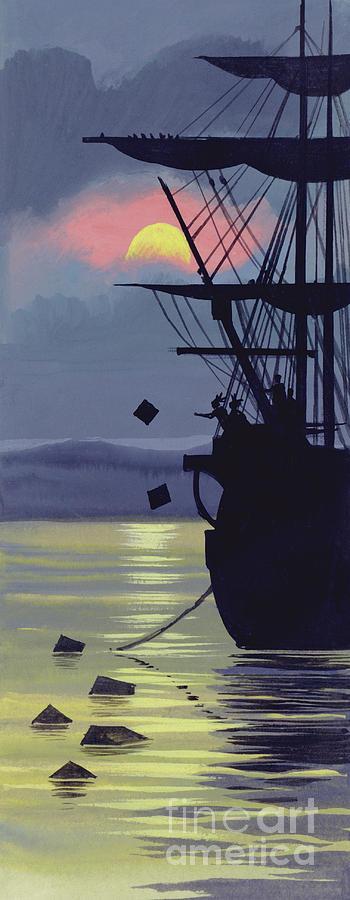 The Boston Tea Party Painting -  Boston Tea Party by Ron Embleton