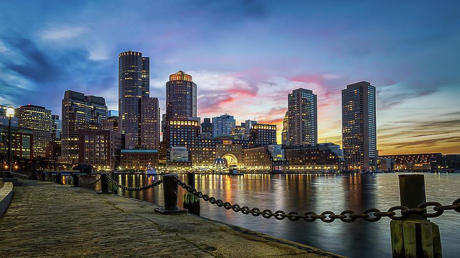 Boston,ma Sunset Photograph by Dana Plourde