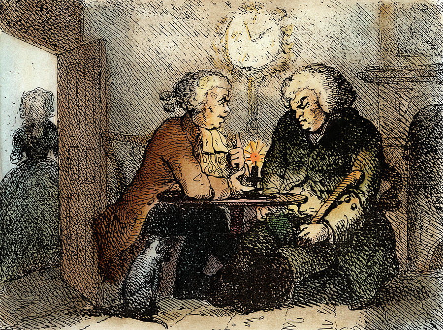 1786 Painting - Boswell And Johnson, 1786 by Granger