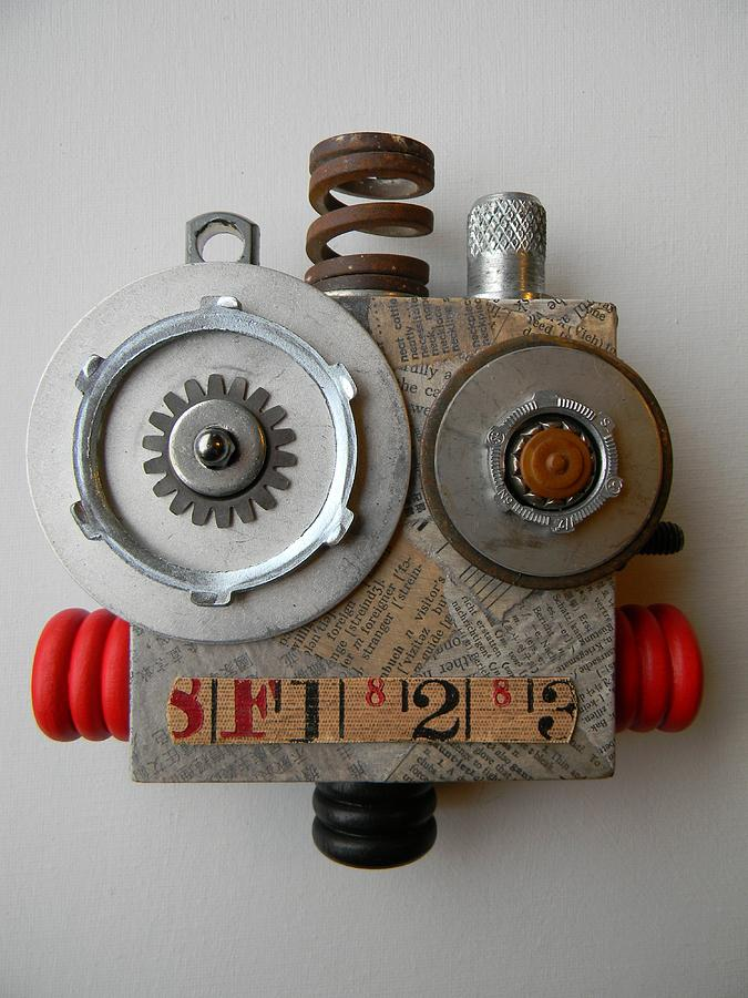 Bot Mixed Media - Bot by Jen Hardwick